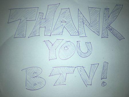 Thank you BTV