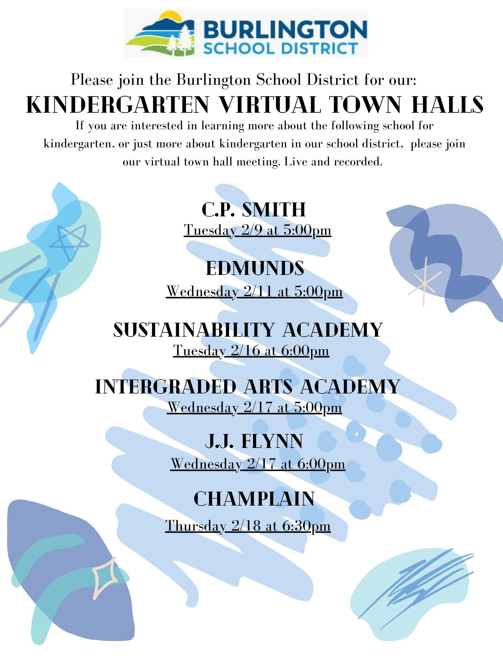 Virtual Town Halls 2021